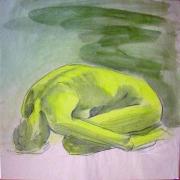 akt gelb in grün